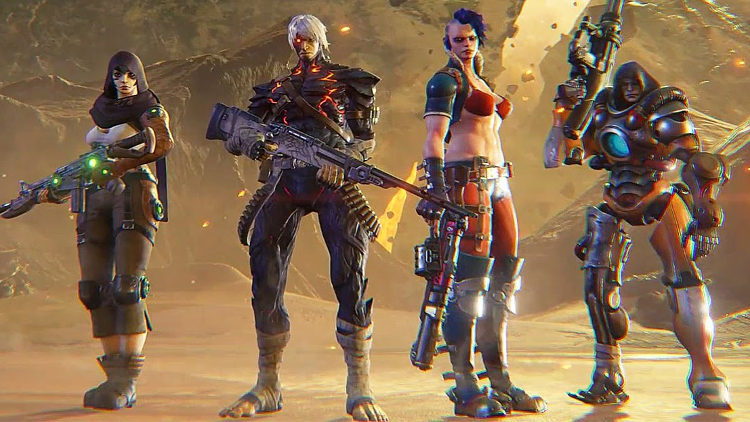 beta abierta de raiders of the broken planet personajes