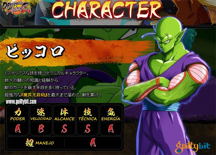 Estadísticas de los personajes de Dragon Ball FighterZ