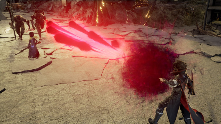 gameplay del combate de code vein