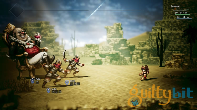 primeras impresiones de project octopath traveler boss