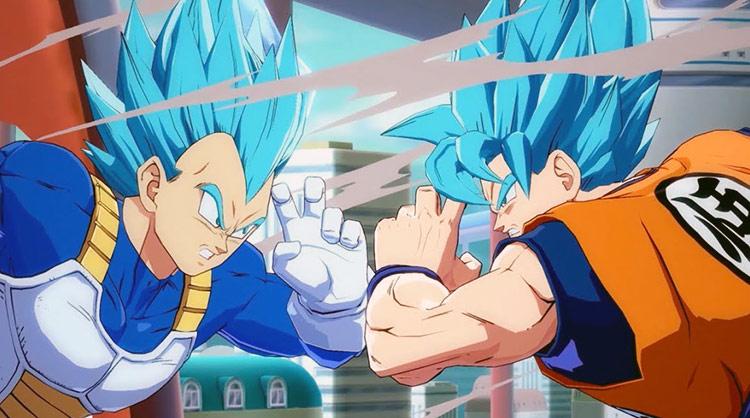 Nuevo gameplay de Dragon Ball FighterZ con Vegeta y Goku en SSGSS