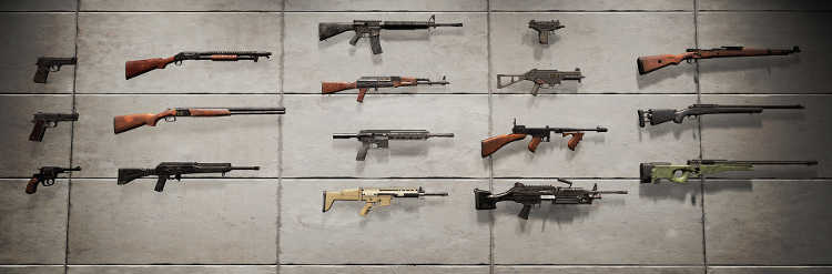armas de Playerunknown's Battlegrounds
