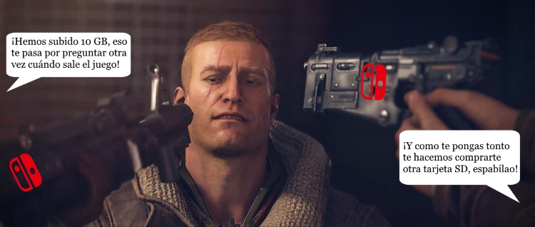 tamaño de Wolfenstein II en Switch