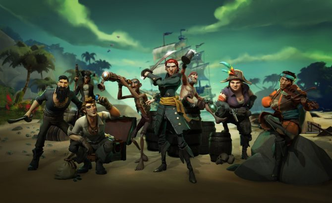 Tráiler de Sea of Thieves y sus dos DLC Cursed Sails y Forsaken Shores