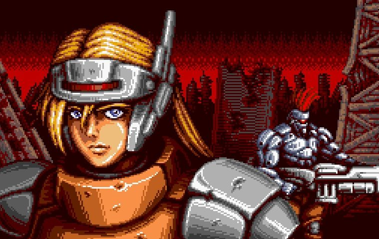gameplay de Blazing Chrome