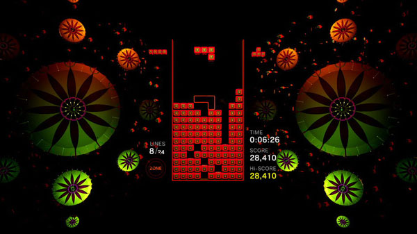 gameplay de tetris effect