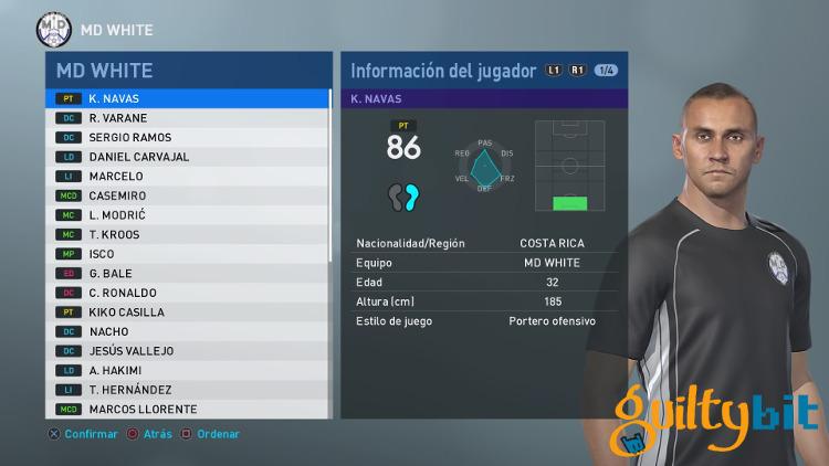 Media-de-los-jugadores-del-Real-Madrid-en-PES-2019- Navas