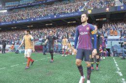 Rostros de los jugadores del F.C. Barcelona en Pes 2019