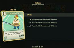 el nuevo sistema de habilidades de Fallout 76