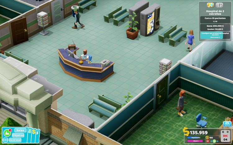 análisis de two point hospital