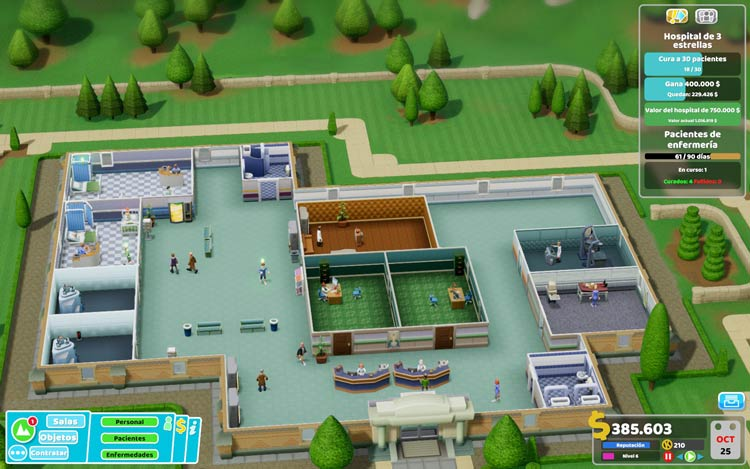 guía de two point hospital