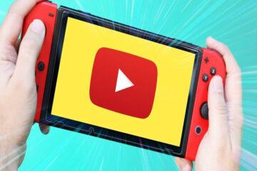 Youtuve en Nintendo Switch