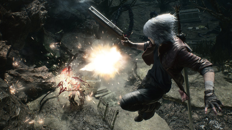 ¿Dante vs Goliath Hideaki Itsuno muestra un poco de gameplay del Palacio Sangriento de Devil May Cry 5