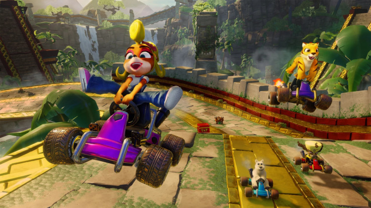 diseño retro en Crash Team Racing Nitro-Fueled