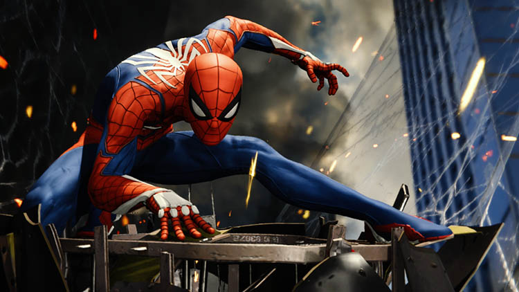 cómic de Spider-Man de PlayStation 4