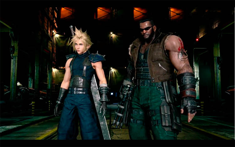 extenso gameplay de Final Fantasy VII Remake