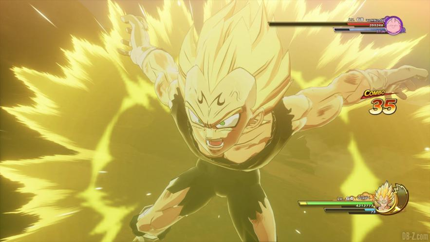 Gameplay e imágenes del malévolo Majin Vegeta en Dragon Ball Z KAKAROT