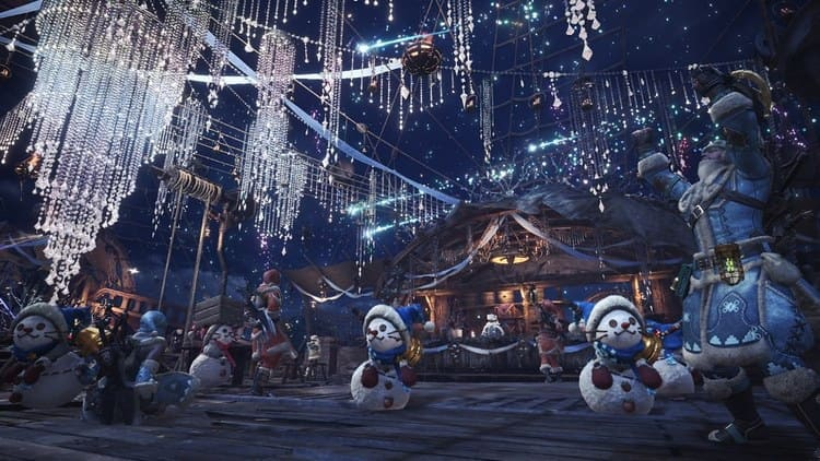 festival de invierno de Monster Hunter World 02