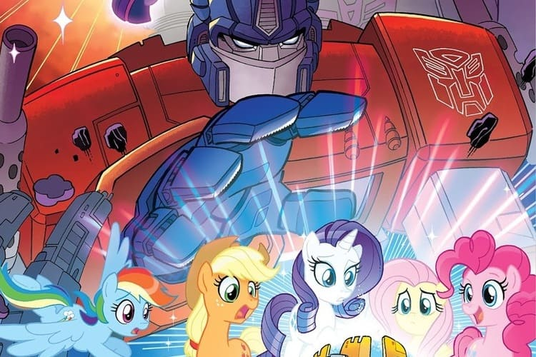 Cómic de My Little Pony y Transformers