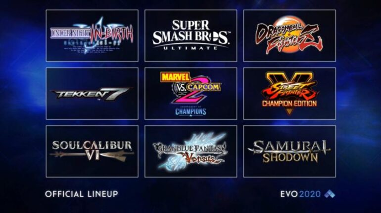 EVO 2020: Lista de videojuegos, torneos oficiales y especiales