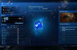 materias azules en Final Fantasy VII Remake