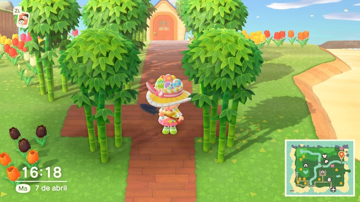 bambú en animal crossing: new horizons
