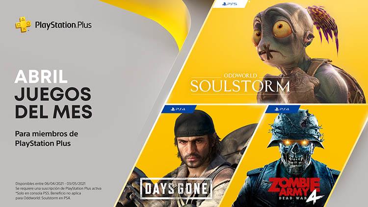 Juegos de abril de PS Plus
