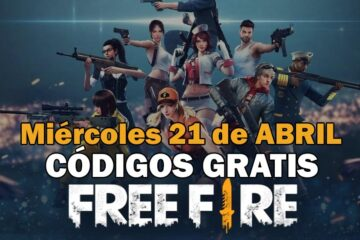 Códigos Free Fire gratis disponibles 21 de abril de 2021